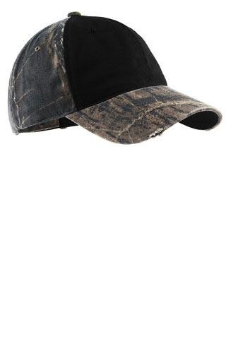 C807 - C807 - Camo Cap with Contrast Front Panel